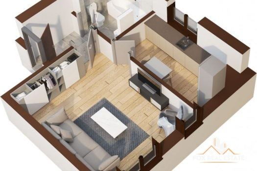 Apartament o camera 32.8mp - Tatarasi Iasi