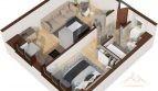 Apartament 2 camere 39.8mp – Tatarasi Iasi