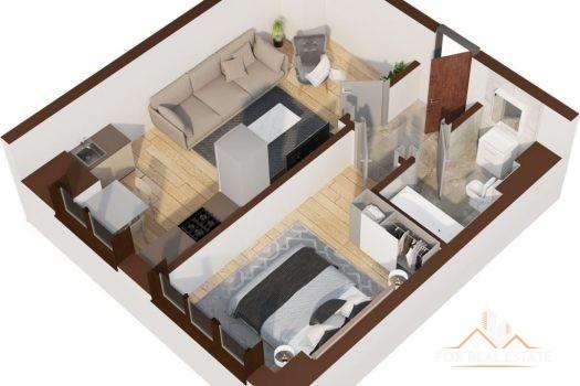 Apartament 2 camere 39.8mp