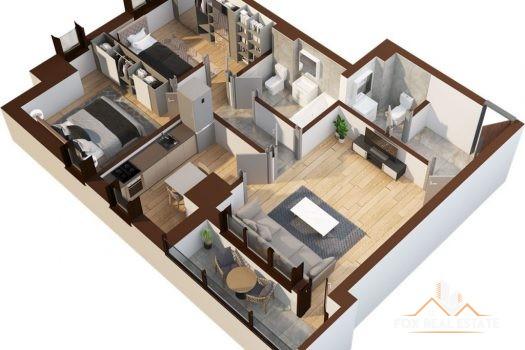 Apartament 3 camere 72.5mp - Tatarasi Iasi