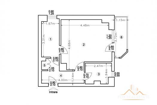 apartament 1 camera arcu centru billa iasi